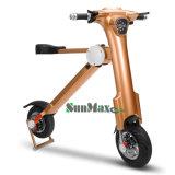 Scooter se pliant de couleur d'or électrique du scooter 2017