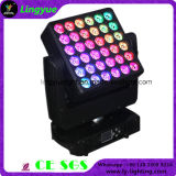 6X6 DJ DMX Cabezal movible de matriz de diodos LED