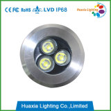 둥근 3W 지하 빛, LED Inground 가벼운 IP68, LED는 램프 옥외 점화를 매장했다