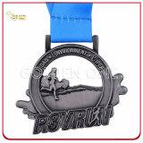 고품질 인쇄된 방아끈을%s 가진 금에 의하여 도금되는 금속 스포츠 큰 메달