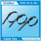 Cable recubierto de PVC Ss Self-Lock correaje para cables atados