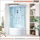 Montan@as-uno blancas de la cabina de la ducha de la parte posterior del acrílico