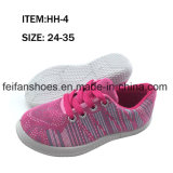 Chaussures occasionnelles Lace-up de chaussures de toile d'injection d'enfants personnalisées (FFHH-092606)