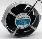 (SFM15755) Ventilateur axial à C.A. lames argentées/noires en métal pour le refroidissement