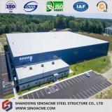 Grande construction moderne diplôméee du marché de structure métallique avec le panneau ignifuge