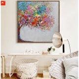 Het abstracte Met de hand gemaakte Olieverfschilderij van de Boom van de Kunst van de Muur Kleurrijke