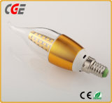 Bombilla vendedora caliente del fuego de la vela de la lámpara LED de RoHS 3W E14 del Ce