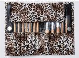 De haut Grade 12pcs Leopard Pattern maquillage synthétique Jeu de balais