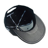 Casquillo modificado para requisitos particulares del Snapback del sombrero negro y del bordado