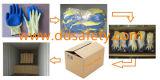 Ddsafety 2017 10 Anzeigeinstrument-gelbe Zeichenkette gestrickte blaue Latex-Palme beschichtete Arbeits-Handschuhe