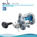 Bobine portante de pêche à la traîne de palan de pêche du corps 5+1 en aluminium de la bobine A6061-T6 de pêche maritime d'Uranus