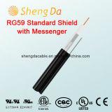 Standardschild Rg59 mit Kurier im Freien Koaxial-RCA-Audios-Kabel