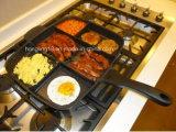 Vaschetta di frittura quadrata divisa sezioni antiaderanti dell'alluminio 5 del Teflon di buona qualità