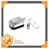 Acciaio inossidabile Frameless che fa scorrere le doppie serrature di portello di vetro