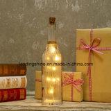 El LED enciende para arriba la botella con pilas de la decoración de los regalos de Navidad de los amigos de la hermana de la hija del cumpleaños de la botella de la luz de las estrellas que contellea