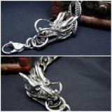 Homens de aço inoxidável Dragon Curb Chain Bracelets Body Jewelry