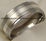 Ring van het Titanium van de Juwelen van het Inlegsel van de Juwelen van Shineme de Echte Zilveren (TR1833)