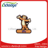 Emblema macio do PVC dos desenhos animados feitos sob encomenda da borracha de silicone