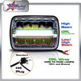 """DRL 7이 """" 지프 상표 체로키 헤드라이트 5X7 LED 헤드라이트를 위한 부속품에 의하여 안녕 낮게 지프 Offroad 트럭을%s LED 정연한 헤드라이트 빛난다"""