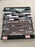 Mattonelle di mosaico di vetro di Backsplash di cristallo della striscia bianca delle mattonelle