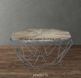 Legno e metallo di legno riciclati semplici del tavolino da salotto dell'acciaio inossidabile di stile