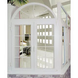 Conch 60 PVC/UPVC 걸리는 최고를 가진 내부 여닫이 창 Windows