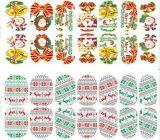 Etiqueta elegante do prego das etiquetas da arte do prego do floco de neve do Natal