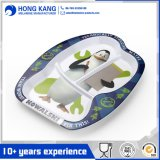 Placa plástica de la melamina del alimento portable Non-Disposable seguro de la cena