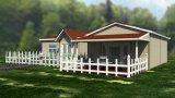 Casa pré-fabricada da casa de campo Prefab