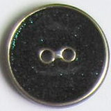 Enamel verde intenso Clothing Button (A-687E BLACK 165PR-10S-5)