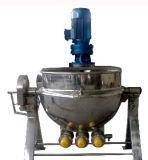 Chaleira Jacketed industrial do cozimento de vapor do aço inoxidável com agitador