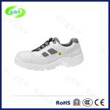 白いキャンバスPUの網のクリーンルーム4の穴ESDの靴