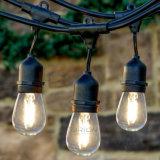 Luz al aire libre de la cadena de Edison LED de la vendimia del patio del café