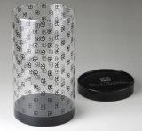 명확한 플라스틱 실린더 관 (애완 동물 둥근 상자)