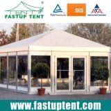 2018 Hot Sale pagode hexagonale en verre tente pour l'Église 12m de diamètre de 200 personnes places Guest
