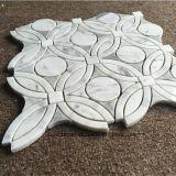 Marmormuster-Rand-Wasserstrahlmarmormosaik für Badezimmer
