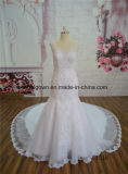 Os projetos os mais atrasados do vestido da sereia luxuosa do vestido de casamento