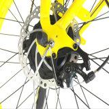 Bicicleta elétrica do pneu gordo fêmea da praia
