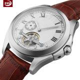 Saphir-Quarz-Glas-Edelstahl-mechanische Uhr der wasserdichten Männer