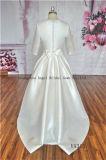 Elegante drapejar o retrato do Joelho-Comprimento do vestido de casamento árabe