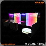 Cabina de encargo de la exposición de la pared de la venta caliente LED