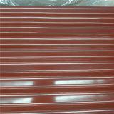hoja acanalada galvanizada del material para techos de la hoja de acero del material de construcción de 0.125-0.8m m