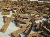 ثبتت 7 بوصة 8 بوصة 9 بوصة خشبيّة نوع كرمة سلال (من 3)