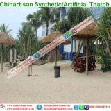 Thatch di foglia di palma sembrante naturale del Thatch artificiale sintetico impermeabile a prova di fuoco del Thatch nei Maldives Bali Palapa