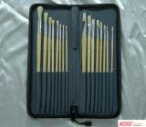 16ПК из естественной древесины художник щетки в нейлоновую сумку (07357)