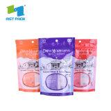 Blanc mat pochette d'emballage en plastique à fermeture ZIP Mylar Bijoux sacs Ziplock imprimé