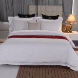 新しい300tセットされる100%年の綿の白いサテンのシーツ(JRD067)