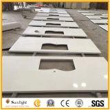 China-künstlicher weißer Kristallquarzvorfabrizierter Countertop, künstliche Steineitelkeits-Oberseiten