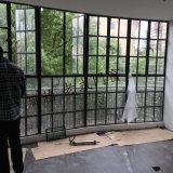 Vecchia finestra del ghisa di disegno
