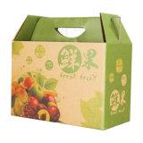 カスタム野菜フルーツのトマトのハンドルが付いているパッキングの波形のカートンボックス